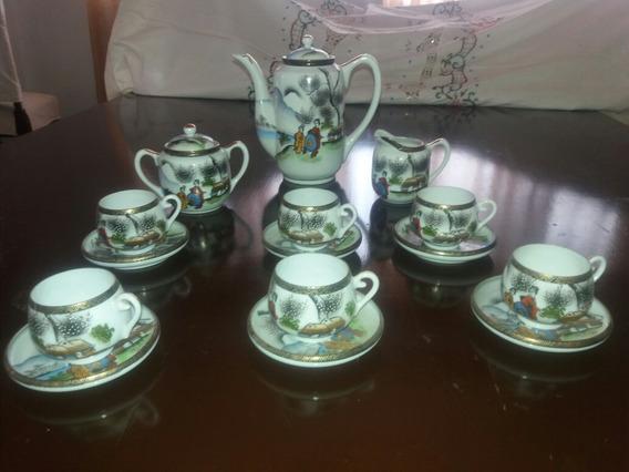 Vajilla De Porcelana Japonesa Para Cafe 17 Piezas 6 Personas