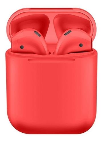 Audífonos In-ear inalámbricos i12 TWS rojo