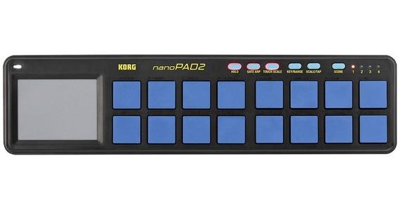 Korg Nanopad 2 Blyl Controlador De Pads Azul Mercado Full