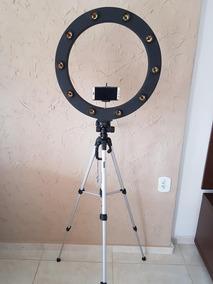 Ring Light 12 Soquetes Mod.caixa + Tripé + Kit Selfie