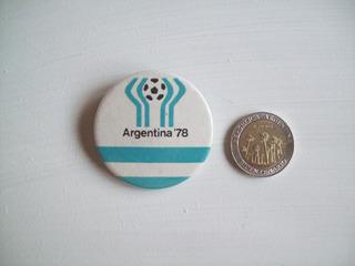Prendedor Pins Futbol Mundial Argentina 1978