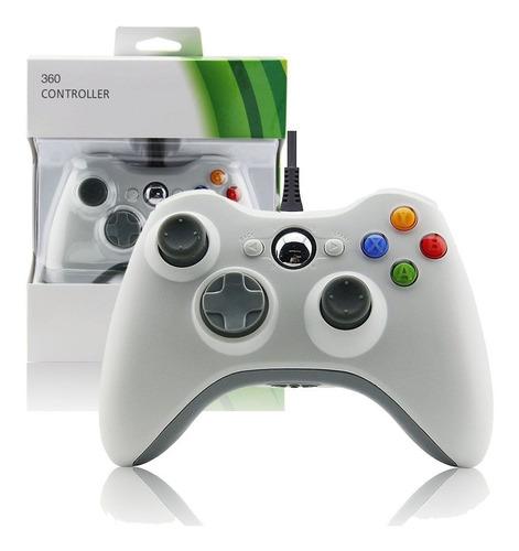 Joystick Mando Control Con Cable Xbox 360 Compatible Blanco