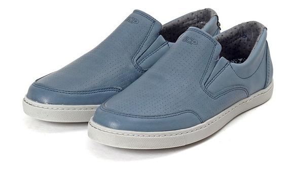 Zapato Alpargatas Hombre 8300 Cuero Picado Scarpino