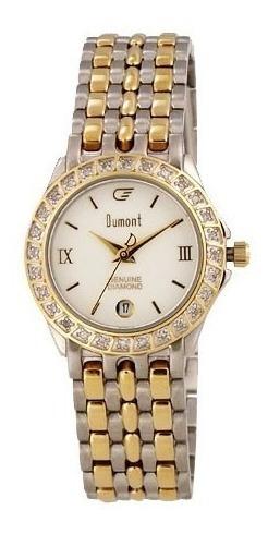 Relógio Feminino Dumont Clássico Pequeno Com 28 Diamantes