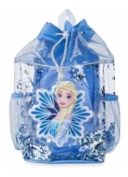 Mochila Bolso Playa Elsa Frozen Original Disney Store