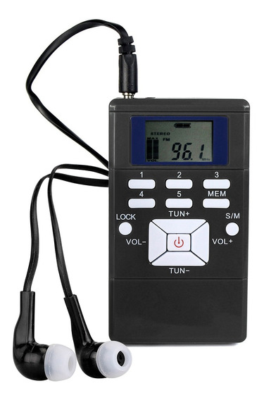 Mini Receptor De Relógio Digital De Rádio Fm Estéreo