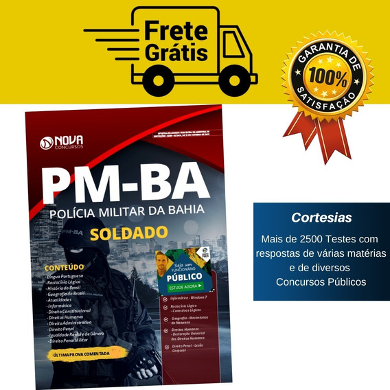 Apostila Soldado Concurso Pm Ba - Polícia Militar Da Bahia