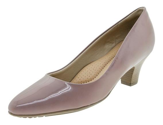 Sapato Feminino Salto Baixo Roxo Piccadilly - 703001