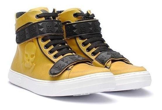 Tênis Botinha Hardcore Footwear Sneaker Couro Treino Fitness