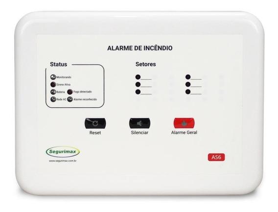 Central De Alarme De Incêndio Convencional - 12v - 6 Setores