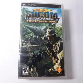 Jogo Socom Us Navy Fireteam Bravo Psp Playstation Original