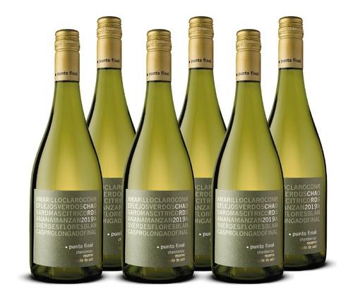 Imagen 1 de 8 de Vino Punto Final Chardonnay Reserva 6 Botellas