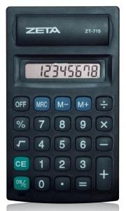 Calculadora De Bolso Zeta Zt-715 8 Díg Funciona Com Pilha Aa