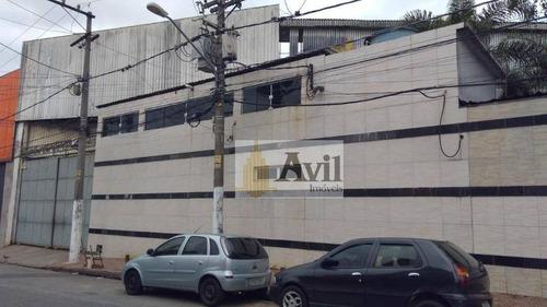 Galpão Para Alugar, 1500 M² Por R$ 25.000,00/mês - Itaquera - São Paulo/sp - Ga0124