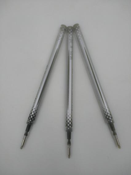 3 Repuestos Tipo Roller Negro Ó Azul Para Boligrafo