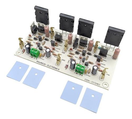 Placa Montada Amplificador 200w Rms Estereo 2sc5200/2sa1943