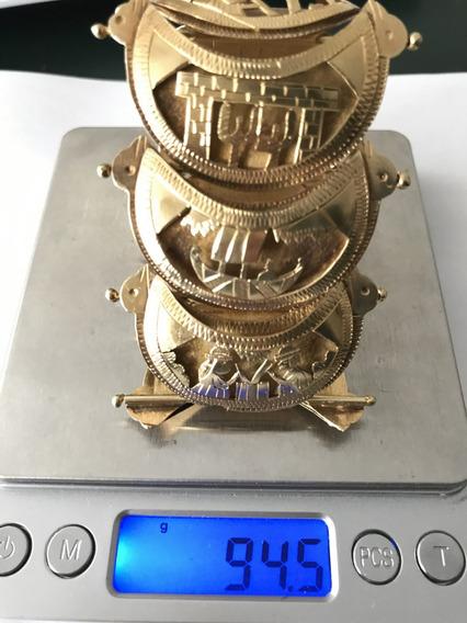 Pulseira Em Ouro Português 21k, Peso 94.5 G , 20,5cm