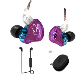 Fone Kz Zst In Ear Sem Mic + Módulo Bluetooth Kz + Case Kz
