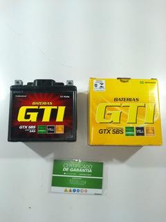 Bateria Moto Gel 5ah Titan Fan Ybr Factor Max 125 150 160 Mix Biz Bros Xre