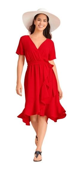 Vestido Rojo 028-203 Mundo Terra 2020