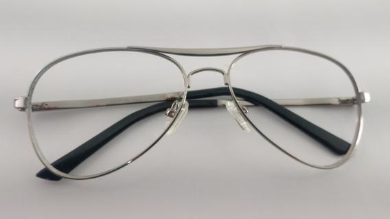 Óculos Grau Ou Sol Vintage, Metal Aviador, Narducci, M1062av