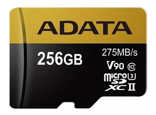Memoria Microsd Xc 256gb Uhs Il Premier C10 U3 V90 Adata 8k