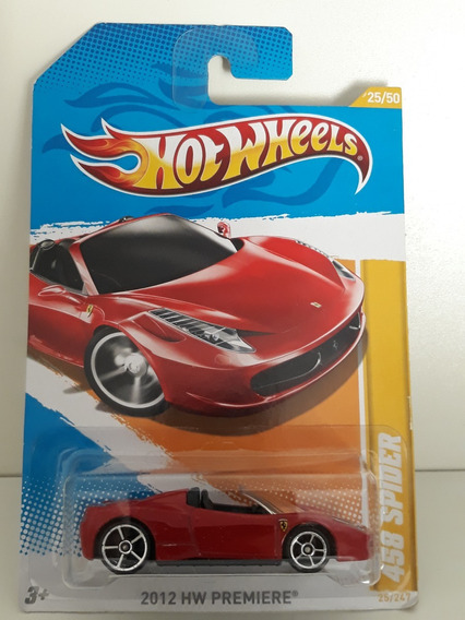 Hot Wheels -2012 Hw Premiere - Ferrari 458 Spider (vermelha)