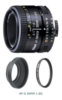 Lente Nikon Nikkor Af 50mm F/1.8d 50 Mm 1.8d 12 Cuotas