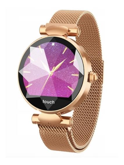 Relogio Smartwatch B80 Feminino - Frequência Cardíaco Pulseira De Imã