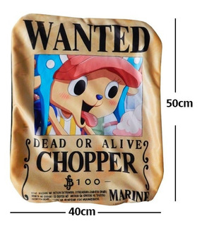 One Piece Chopper Wanted Funda De Almohada De 40 X 50cm