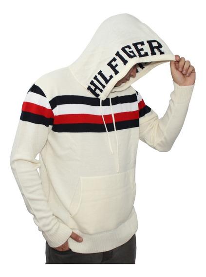 Suéter Lã Tricot Capuz E Bolso