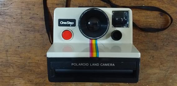 Camera Polaroid Antiga Decoração Cor Branca Leia O Texto
