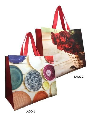 50 Sacolas Reutilizáveis - Ecobag Retornável Leblon