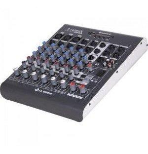 Mesas De Som C/ 06 Canais Stereo Starmix Xms602r Cinza Ll