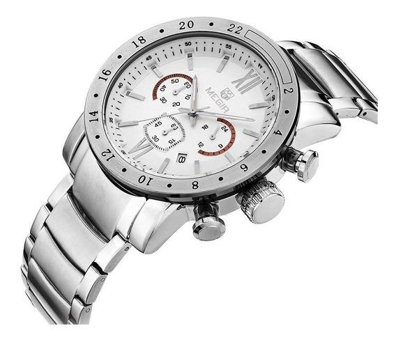 Relógio Masculino Megir 3008 Luxo Original Prova D