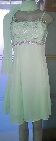 Vestido Dama De Shifon Usado Perfecto Estado 15$