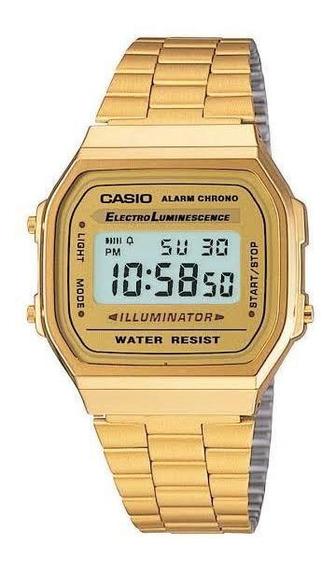 Relógio Casio Retrô Vintage Dourado Original Garantia