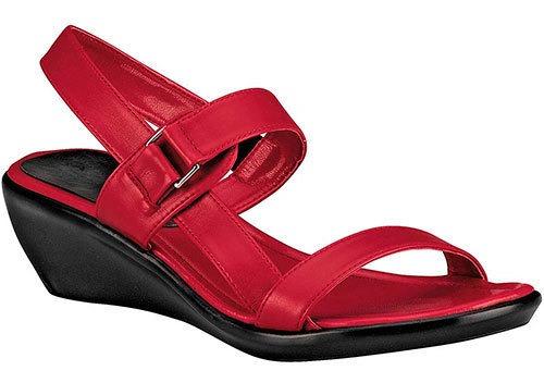 Zapato Comodo Pravia Rojo 5cm Dama Ankle D70312 Udt