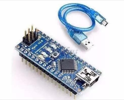 Arduino Nano V3.0 + Cabo Usb Atmega 328