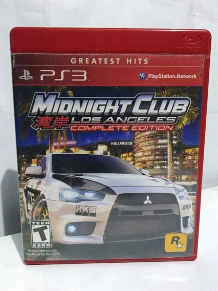 Jogo Midnight Club Los Angeles Ps3 Mídia Fisica R$75