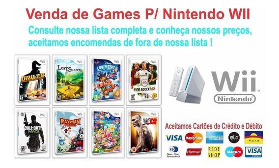 5 Patch De Jogo A Sua Escolha De Nintendo Wii