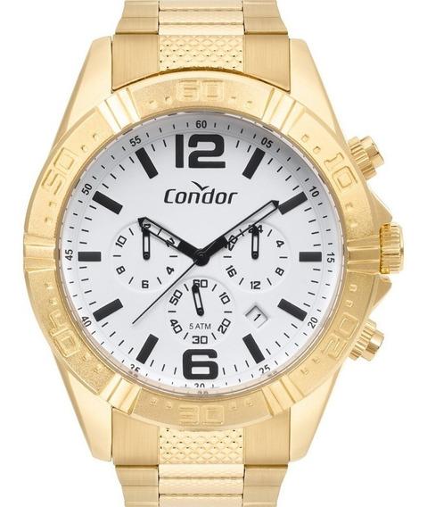 Relógio Condor Cronógrafo Masculino Dourado Covd33a34aa4b