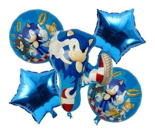 Globos  Sonic Paquete 5 Unidades