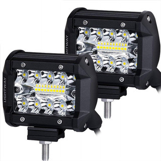 X2 Exploradoras Led 2en1 Flood + Spot Cree Original 12000lm