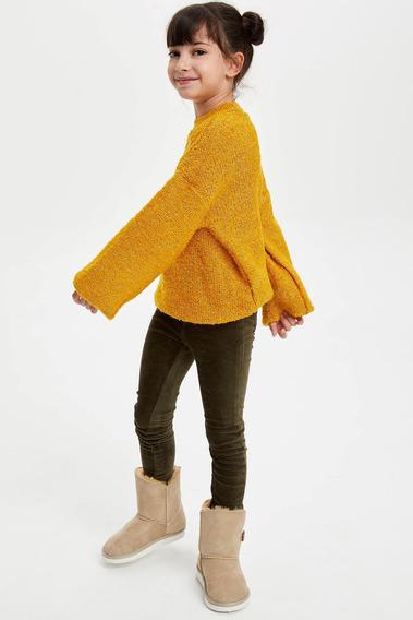 Pulóver Defacto Holgado Para Niña Amarillo