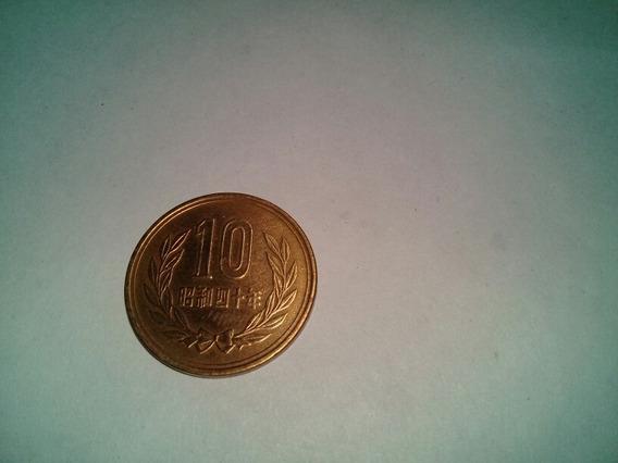 Moneda 10 Yen Japon 1962 De Bronce