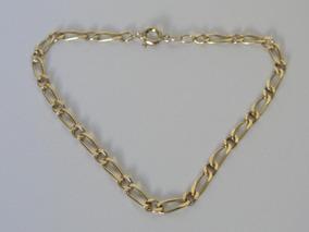 Pulseira De Ouro 18k Masculina - Malha Grumet 1 X 1