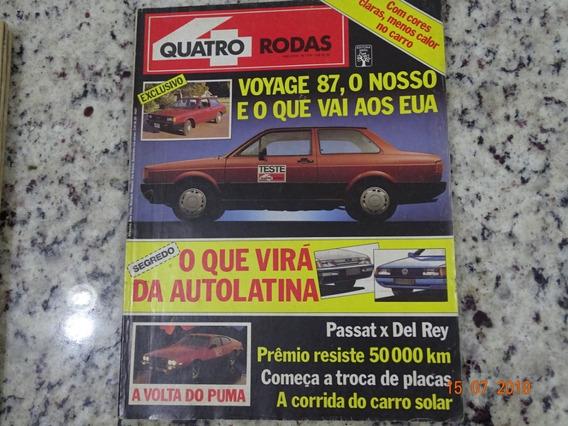 Revista Quatro Rodas 319 Fevereiro 1987 Voyage Passat R467