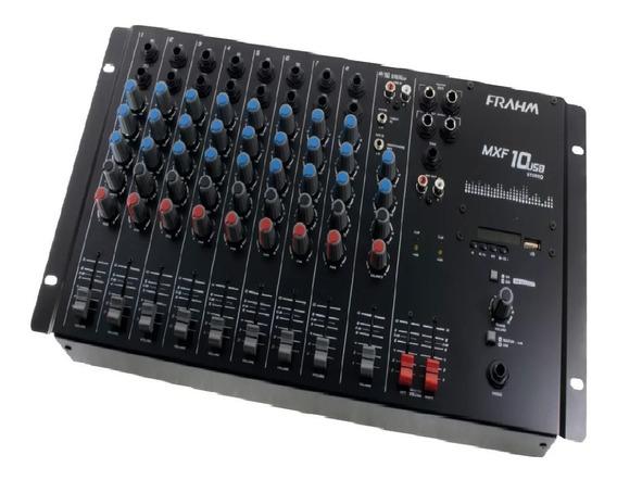 Mesa De Som Mixer Frahm Mxf 10 Usb