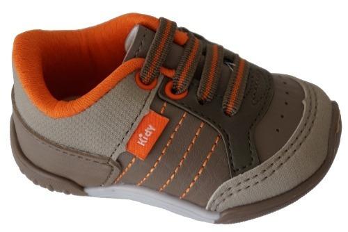 Tenis Infantil Kidy 008-0383 - Areia/castanho/laranja